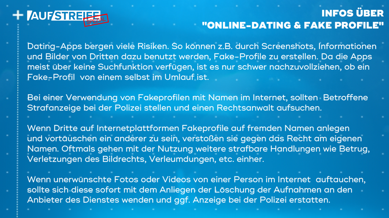 F1450_M1_Infos Online-Dating und Fake Profile - Bildquelle: SAT.1
