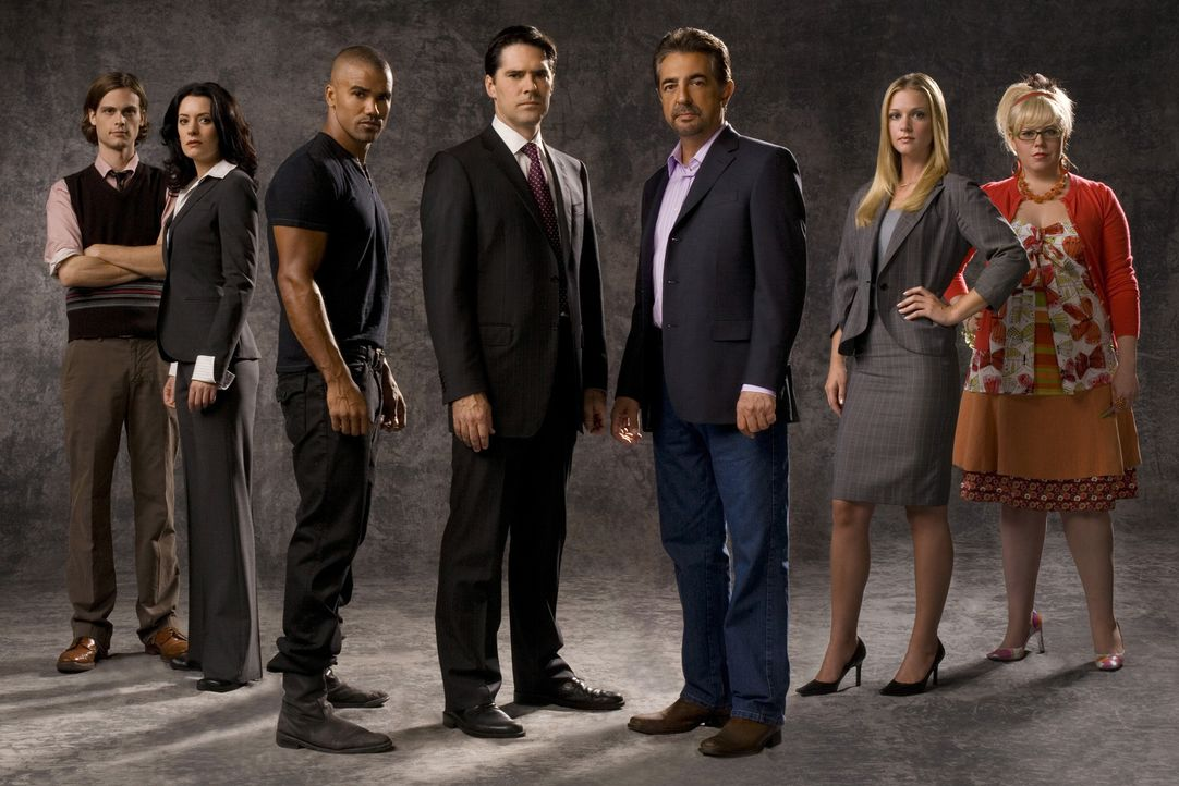 (5. Staffel) - Ein starkes Team, das jeden Serientäter zur Strecke bringt: (v.l.n.r.) Special Agent Dr. Spencer Reid (Matthew Gray Gubler), Emily Pr... - Bildquelle: Touchstone Television