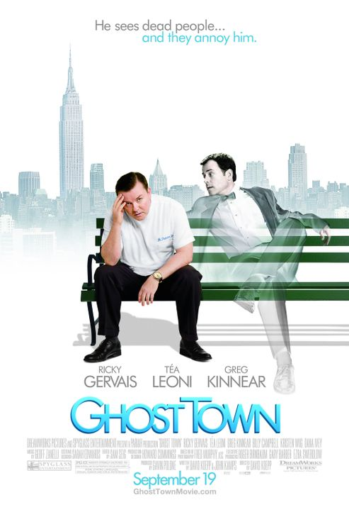 Ghost Town - Plakatmotiv - Bildquelle: MMVIII DREAMWORKS LLC AND SPYGLASS ENTERTAINMENT FUNDING, LLC. All rights reserved.