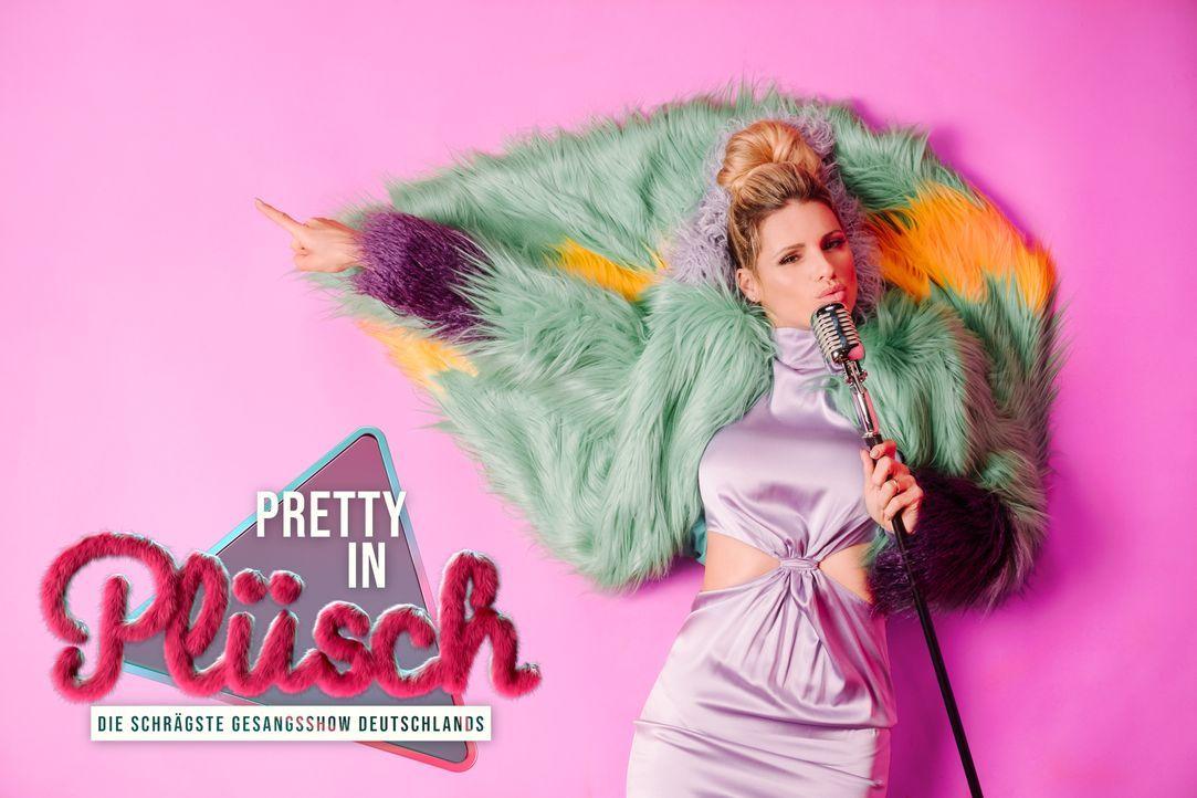 Pretty in Plüsch - die schrägste Gesangsshow Deutschlands - Artwork - Michelle Hunziker - Bildquelle: Julian Essink SAT.1 / Julian Essink