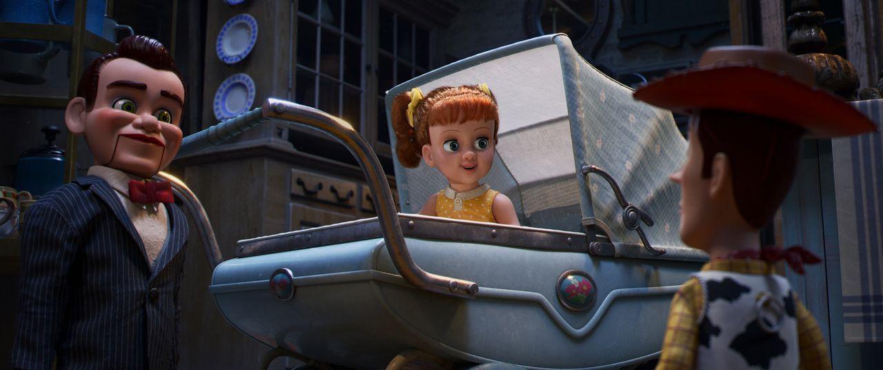 (v.l.n.r.) Benson; Gabby Gabby; Woody - Bildquelle: 2019 Dinsey/Pixar. All Rights Reserved.