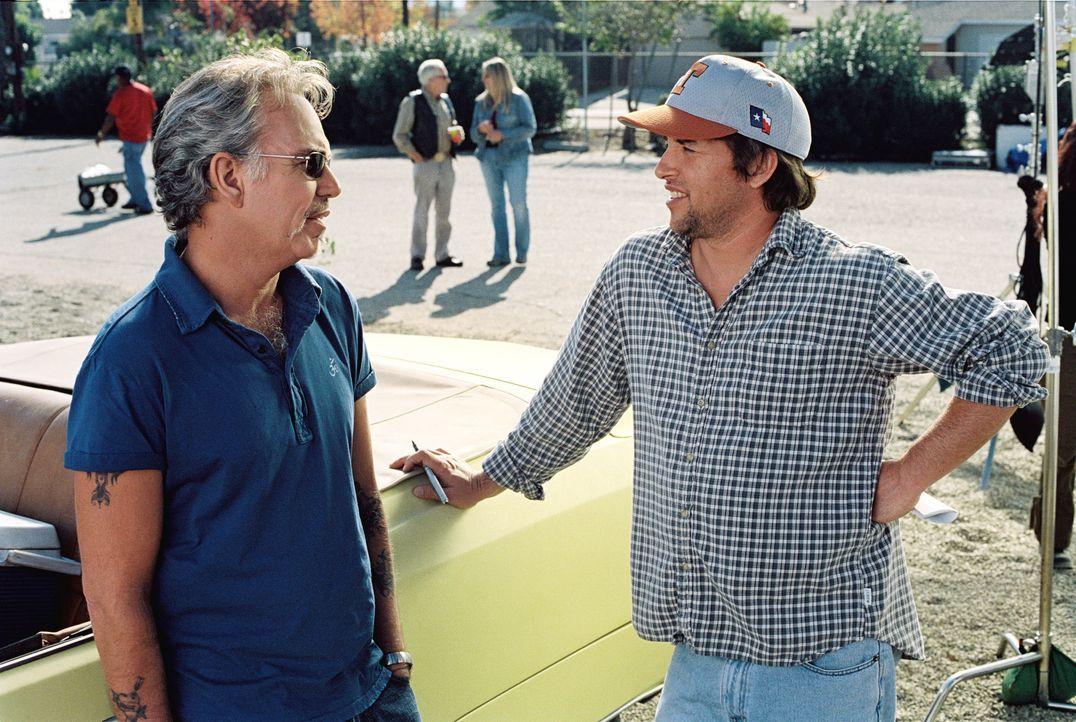 """Der neue Coach der """"Bears"""", Morris Buttermaker (Bill Bob Thornton, l.), scheint einen besseren Einfluss auf die unbegabten Baseball-Spieler zu haben... - Bildquelle: TM & © Paramount Pictures. All Rights Reserved."""