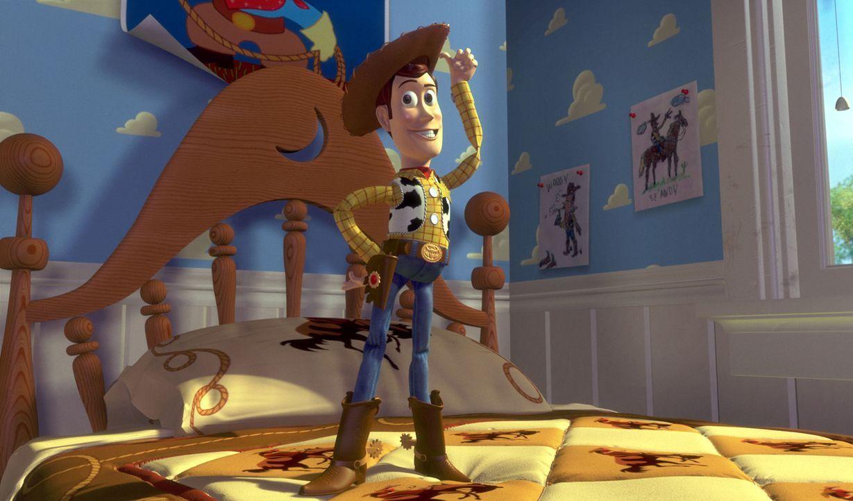 Als Andys Lieblingspuppe hat Woody im Kinderzimmer das Sagen. Kaum ist der Junge nicht da, erwacht die Cowboy-Figur zum Leben, und mit ihm auch all... - Bildquelle: Disney/PIXAR
