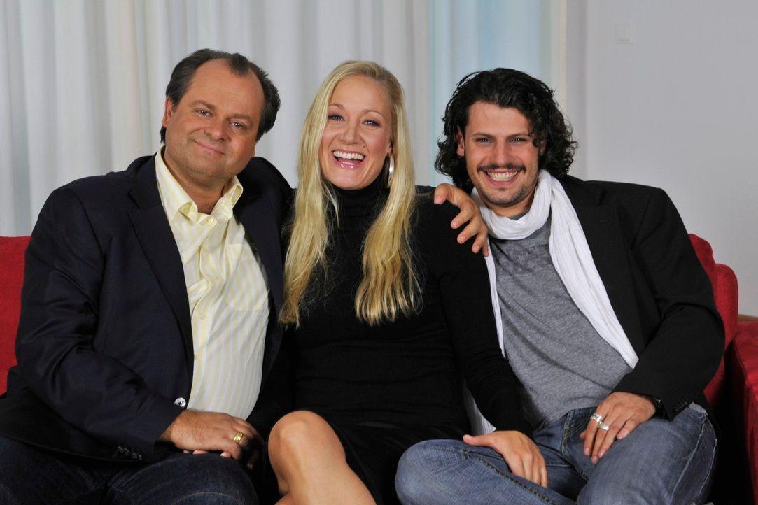 """""""DIE DREISTEN DREI"""" , v.l.n.r.: Markus Majowski, Janine Kunze, Manuel Cortez - das sind die Bewohner Deutschlands berühmtester Comedy-WG... - Bildquelle: Max Kohr Sat.1"""