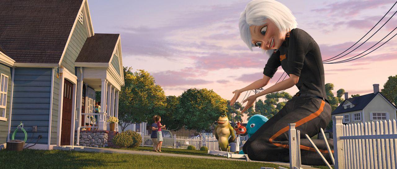 Susan Murphy ist ein typisch kalifornisches Mädchen. An ihrem Hochzeitstag jedoch wird sie von einem Meteor getroffen und mit Weltraumschleim über... - Bildquelle: TM and   2008 by DreamWorks Animation LLC. All rights reserved.