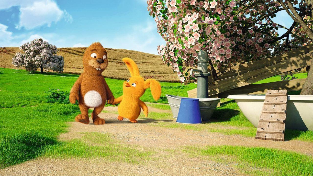 Sind die allerbesten Freunde, auch wenn sie ganz verschieden sind: Der Keinohrhase (l.) und das Zweiohrküken (r.), die lernen müssen, dass gerade ih... - Bildquelle: Warner Brothers