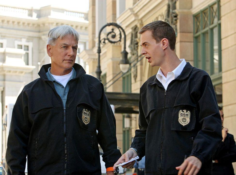 Ein neuer Fall beschäftigt Gibbs (Mark Harmon, l.) und McGee (Sean Murray, r.) ... - Bildquelle: CBS Television
