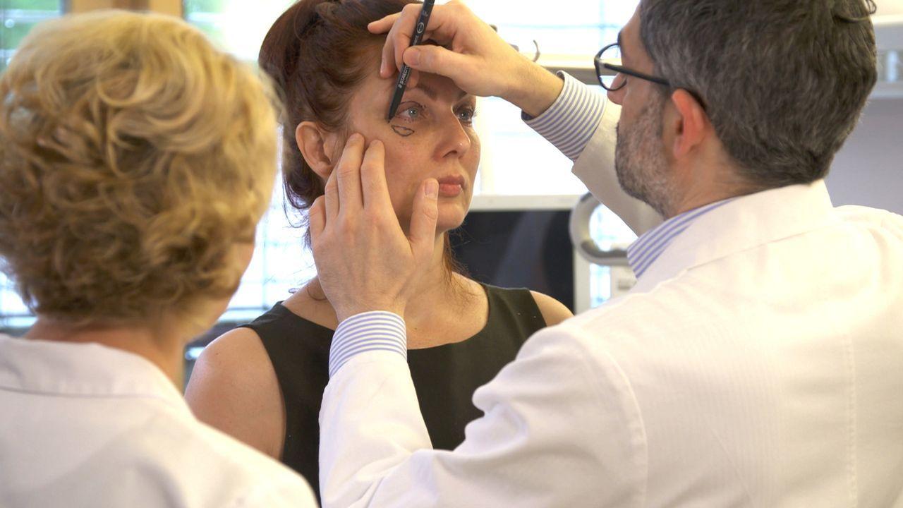 Eigentlich hatte Karen (M.) gehofft, mit der Hyaluronbehandlung und der Augenliedstraffung einen schöneren Blick zu haben, doch was ihr blieb war ei... - Bildquelle: SAT.1