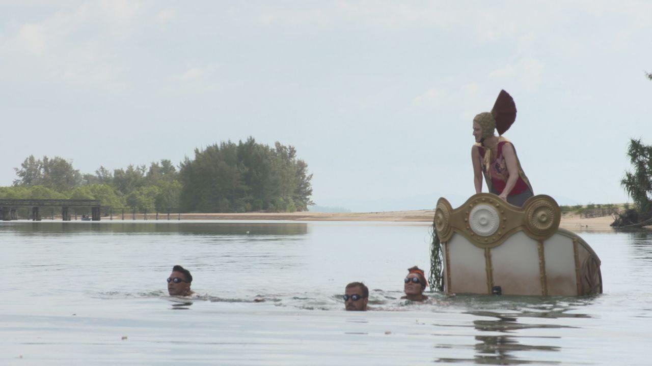 (v.l.n.r.) Matthias Mangiapane; Tobias Wegener; Janine Pink; Désirée Nick - Bildquelle: SAT.1