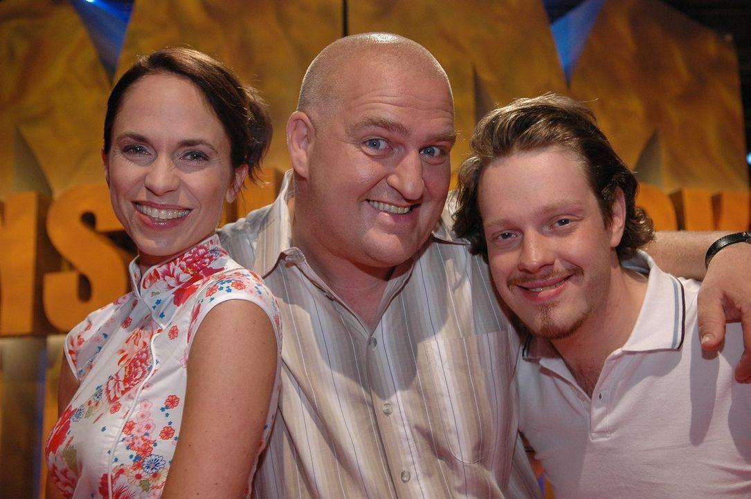V.l.n.r.: Ingrid Einfeldt, Markus Maria Profitlich und Roland Riebeling - Bildquelle: Sat.1