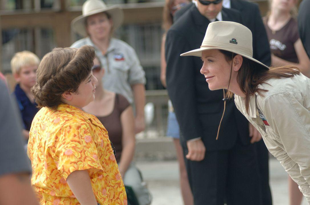 Ende gut, alles gut: Melissa Ventura (Ann Cusack, r.) und ihr Sohn Ace Ventura Jr. (Josh Flitter, l.) ...