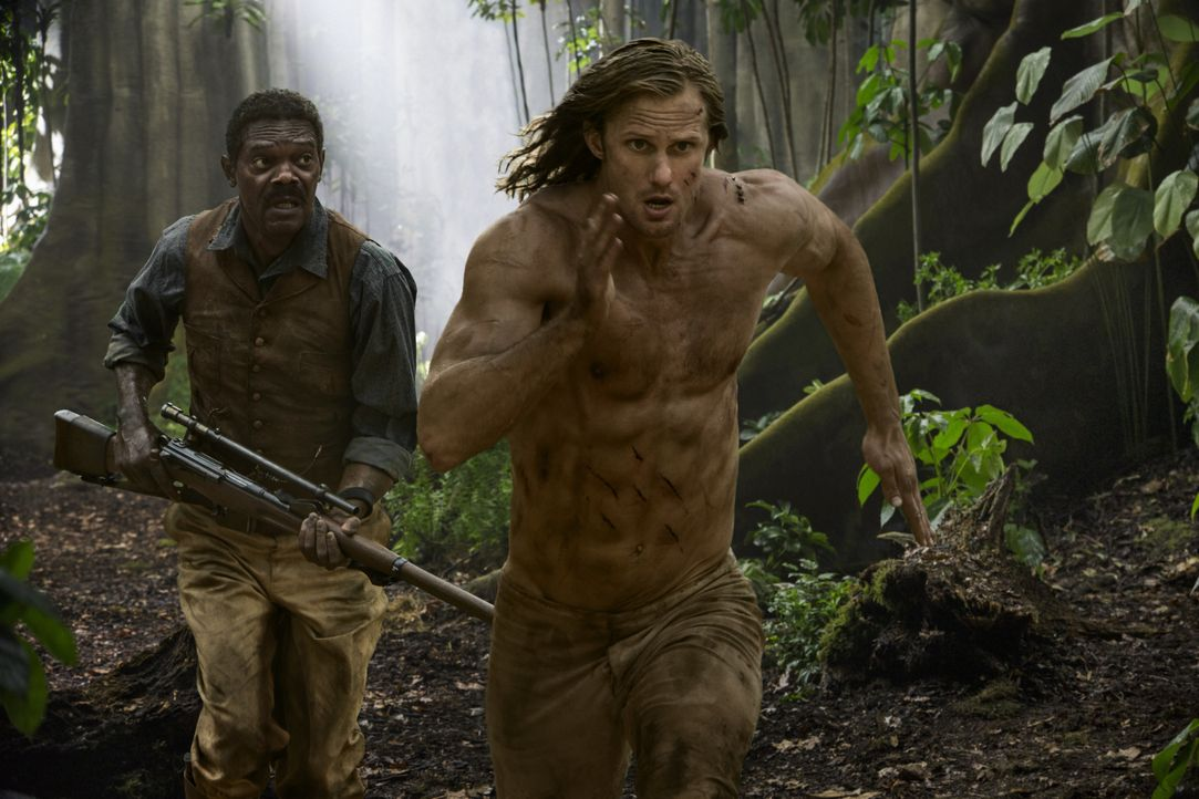(v.l.n.r.) George Washington Williams (Samuel L. Jackson); Tarzan (Alexander Skarsgård) - Bildquelle: Warner Bros.