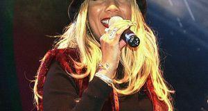 Die Sängerin Melanie Thornton bei ihrem letzten öffentlichen Auftritt vor ihr...