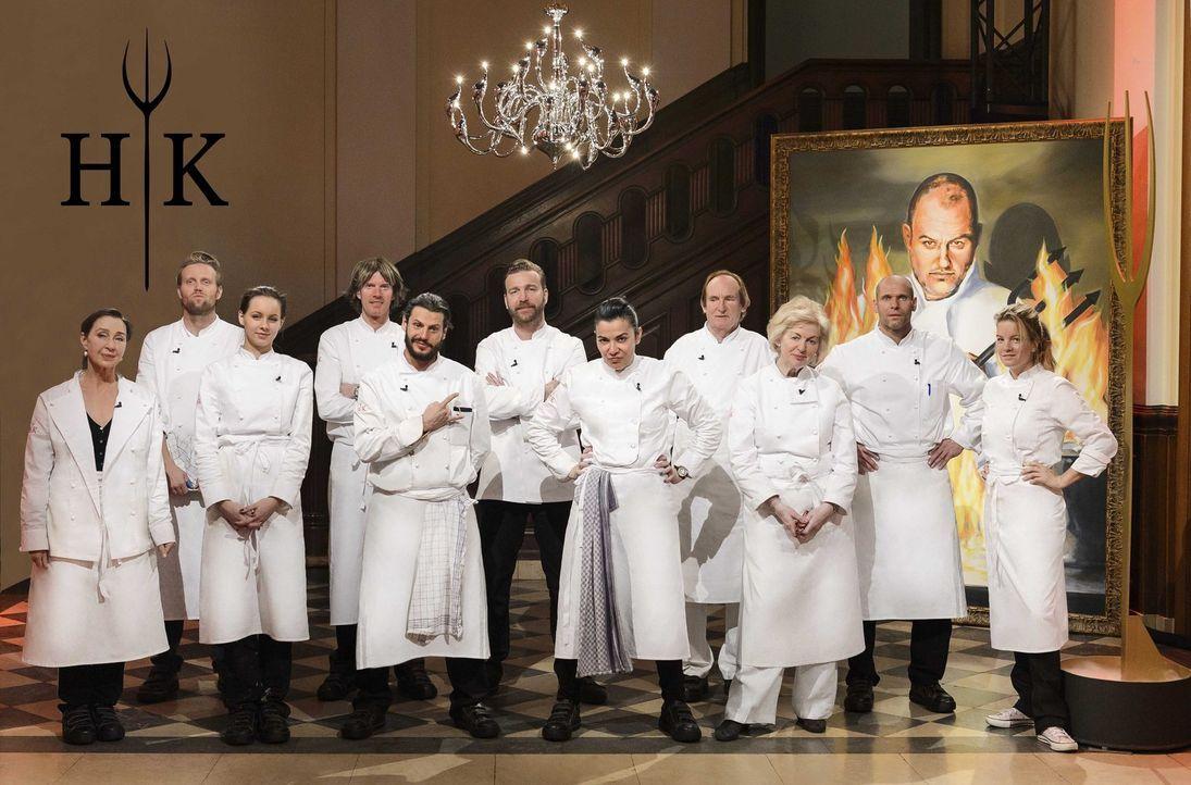 """""""Hell's Kitchen"""" - Elf Prominente melden sich zum Küchendienst, um in einer perfekt ausgestatteten Profiküche ihre Kochkünste unter Beweis zu stelle... - Bildquelle: Willi Weber SAT.1"""