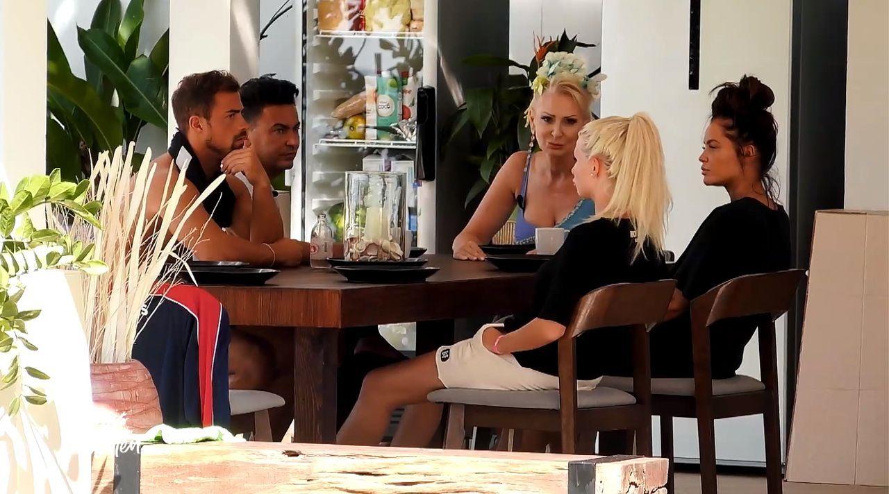 (v.l.n.r.) Tobias Wegener; Matthias Mangiapane; Désirée Nick; Carina Spack, Janine Pink - Bildquelle: SAT.1