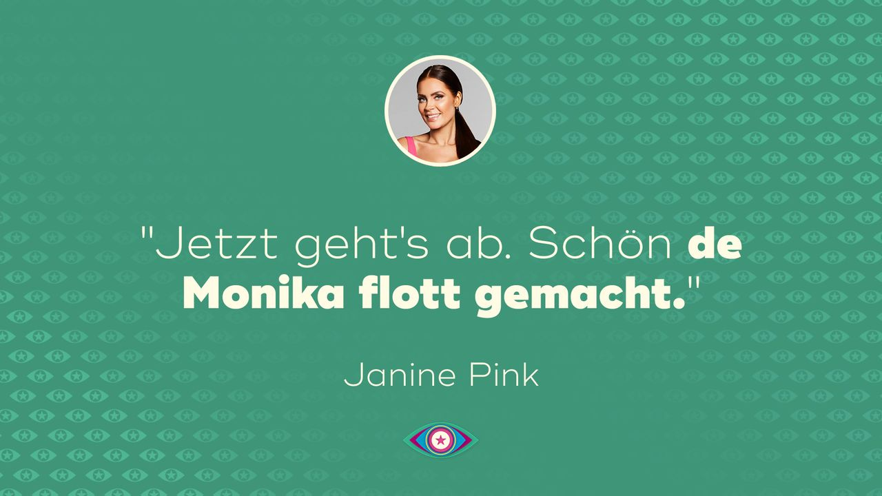 """Promi Big Brother"" 2019: Janine Monika - Tag 7 - Bildquelle: SAT.1"