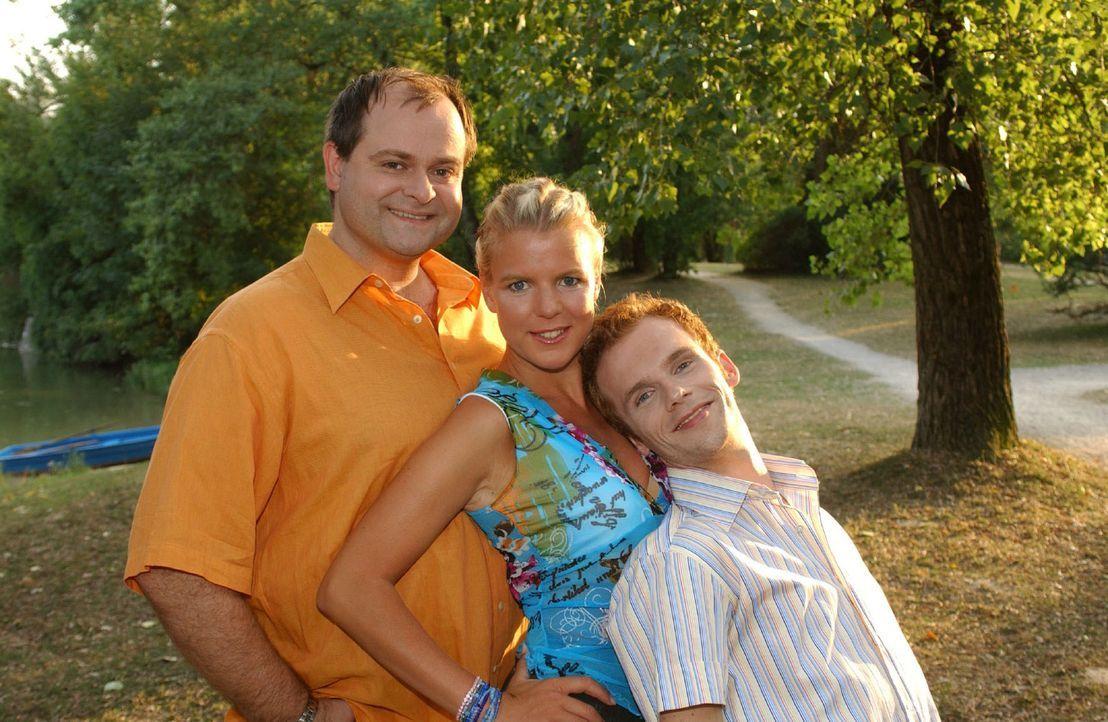 Die dreisten Drei: (v.l.n.r.) Markus Majowski, Mirja Boes und Ralph Schmitz ... - Bildquelle: Stephen Power Sat.1
