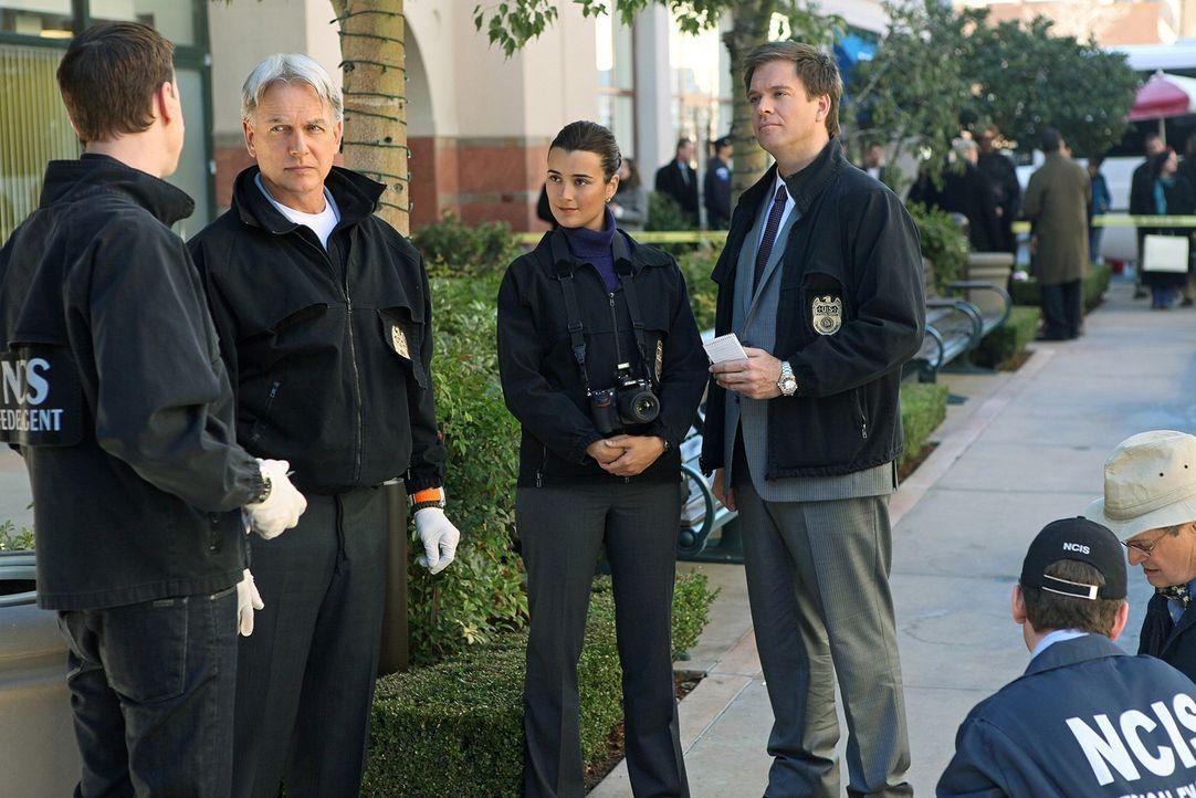 Ein neuer Fall wartet auf (v.l.n.r.) McGee (Sean Murray), Gibbs (Mark Harmon), Ziva (Cote de Pablo), Tony (Michael Weatherly), Jimmy (Brian Dietzen)... - Bildquelle: CBS Television