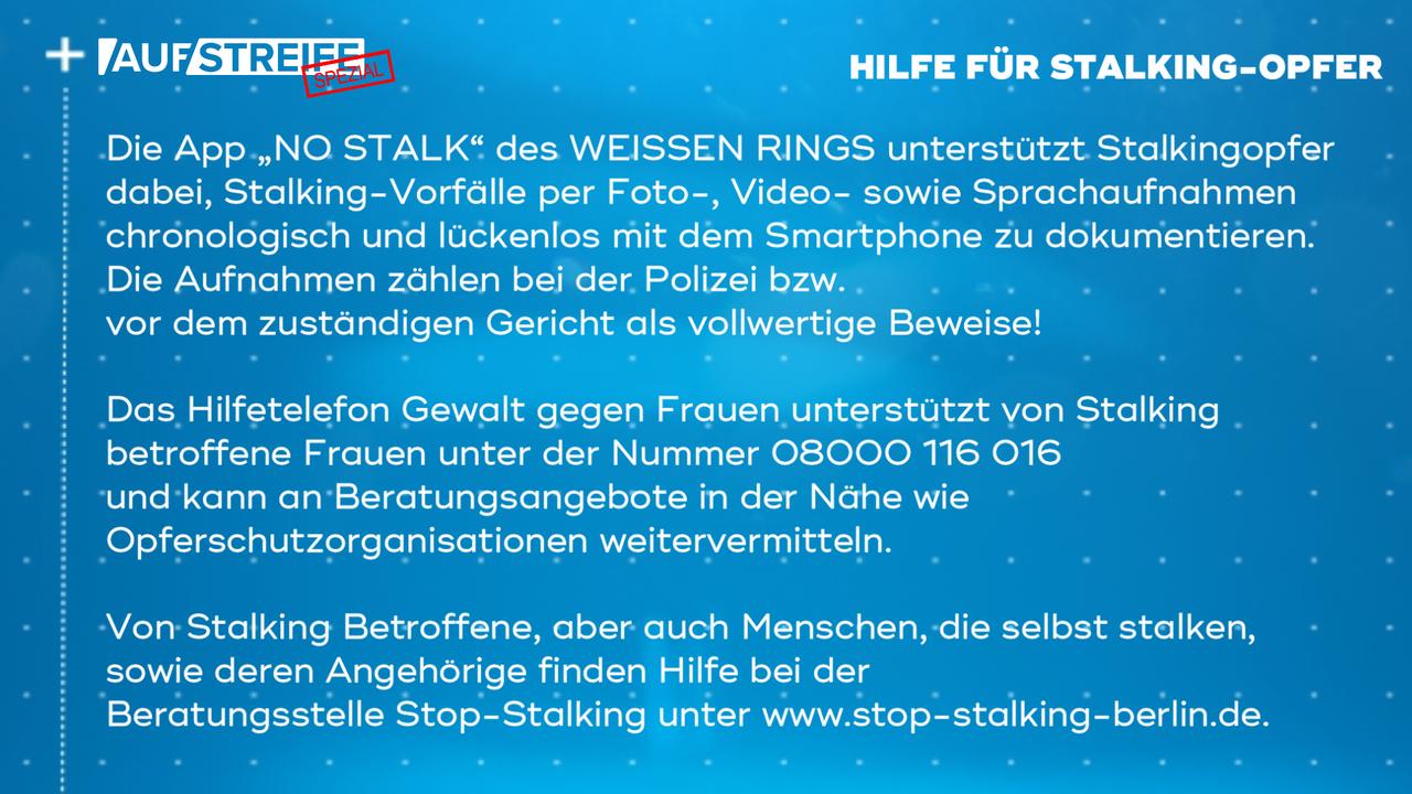 F1446_M2_Opferhilfe_Stalking - Bildquelle: SAT.1