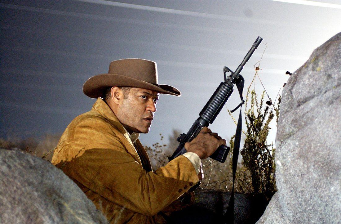 Um seinen Kollegen aus den Händen des Drogenbarons Don Huertero zu befreien, entwickelt Agent Tad Grusza (Lawrence Fishburne) einen skrupellosen Pla... - Bildquelle: Nu Image