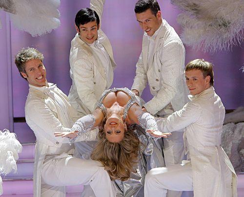 Die schönsten Seiten des sexy Multitalents.  Als Showgirl beim Deutschen Fernsehpreis am 25. April 2008. - Bildquelle: dpa
