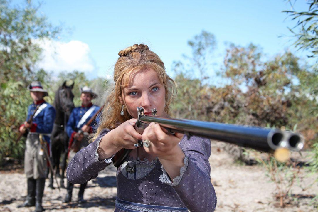 Als Cecilie von Hohenberg (Nadja Uhl) vor ihrem Mann flüchten muss, wird ihr klar, dass in der texanischen Wildnis Adelstitel nur wenig helfen. Inn... - Bildquelle: Boris Guderjahn SAT.1