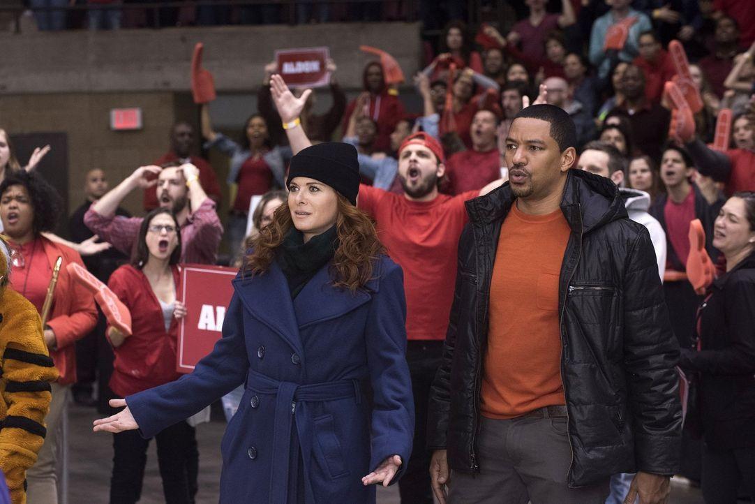 Müssen einen neuen Mordfall aufdecken: Laura (Debra Messing, l.) und Billy (Laz Alonso, r.) ... - Bildquelle: Warner Bros. Entertainment, Inc.