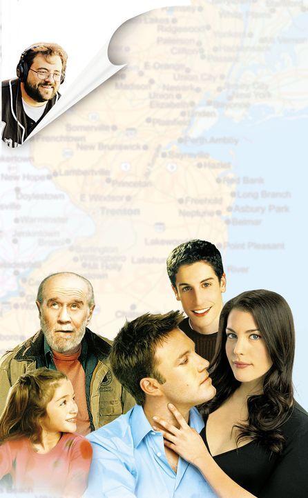 Jersey Girl: Kevin Smith (oben l.), Raquel Castro (unten l.), Ben Affleck (unten M.), Liv Tyler (unten r.), George Carlin (unten 2.v.l.) und Jason B... - Bildquelle: Miramax Films. All rights reserved