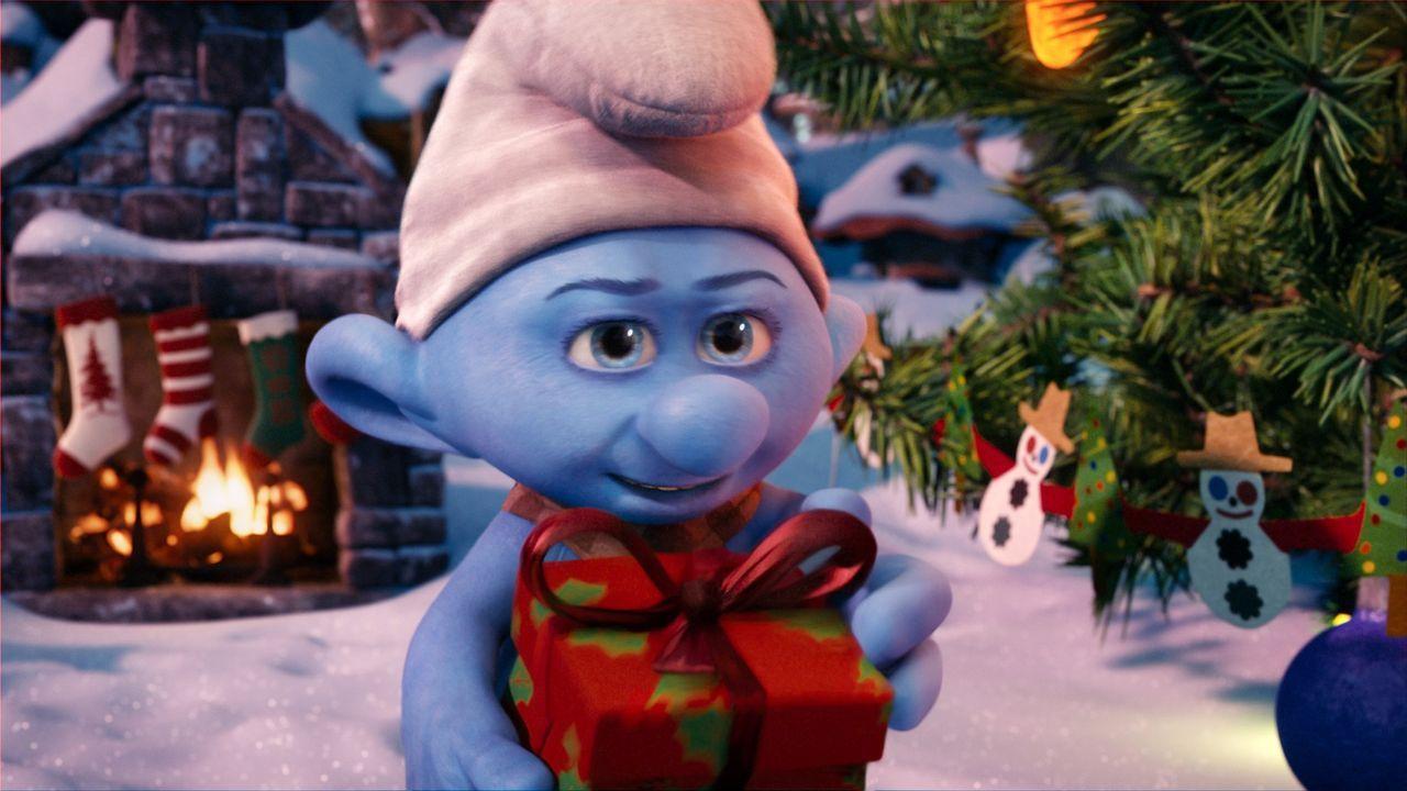 In Schlumpfhausen herrscht Weihnachtsstimmung. Nur Crounchy Schlumpf (Foto) hält so gar nichts vom Fest der Liebe. Papa Schlumpf will das um jeden... - Bildquelle: 2011 Sony Pictures Animation Inc. All Rights Reserved.