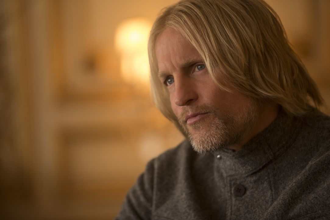 Kämpft an der Seite von Katniss für ein menschenwürdiges Leben der Einwohner von Panem: Haymitch (Woody Harrelson) ... - Bildquelle: Murray Close TM & © 2015 Lions Gate Entertainment Inc. All rights reserved. / Murray Close