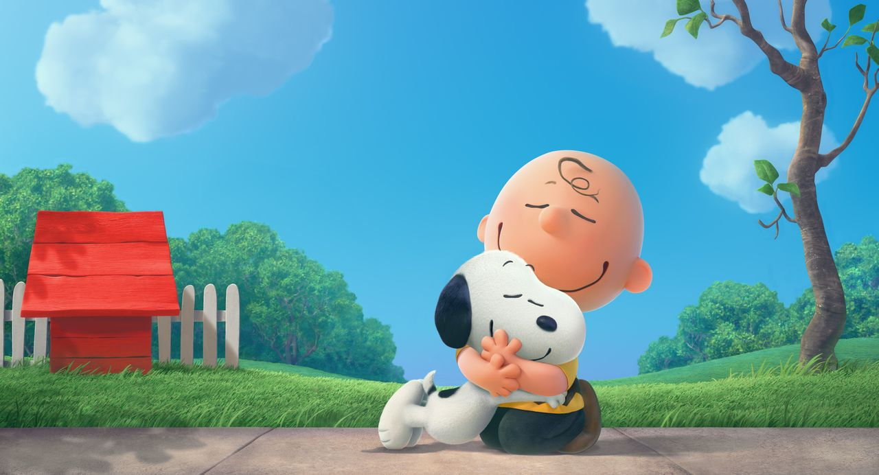 Sind unzertrennlich: Snoopy (l.) und Charlie Brown (r.) ... - Bildquelle: 2015 Twentieth Century Fox Film Corporation.  All rights reserved.  PEANUTS   2015 Peanuts Worldwide LLC.
