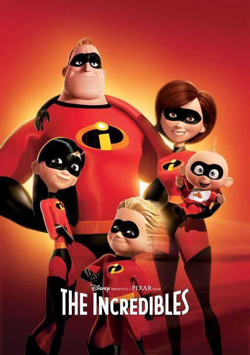 Endlich kann Familie Parr ihre Superkräfte zum Einsatz bringen: Mr. Incredible (hinten l.), Helen (hinten r.), Baby Jack Jack (vorne r.), Violetta... - Bildquelle: Disney/Pixar. All rights reserved