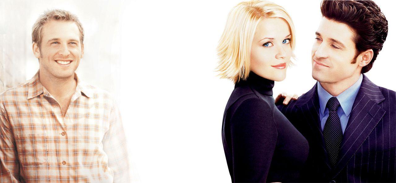 Als Melanies (Reese Witherspoon, M.) Jugendliebe Jake (Josh Lucas, l.) sich weigert, sie freizugeben um Andrew (Patrick Dempsey, r.) zu heiraten, re... - Bildquelle: Touchstone Pictures