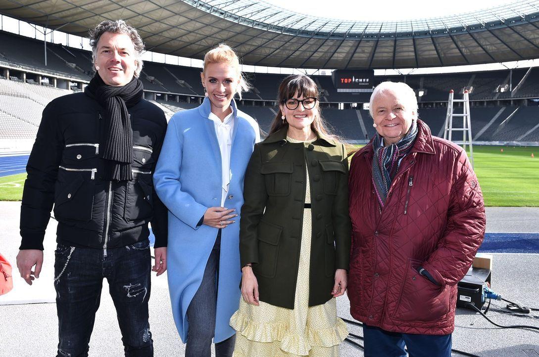(v.l.n.r.) Peter Maria Schnurr; Alexandra Kilian; Cynthia Barcomi; Eckart Witzigmann - Bildquelle: Andre Kowalski SAT.1
