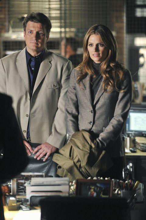 Nach dem Mord an einem Regierungskritiker versiegelt Homeland Security den Tatort und übernimmt die Ermittlungen. Klar, dass sich Castle (Nathan Fi... - Bildquelle: ABC Studios