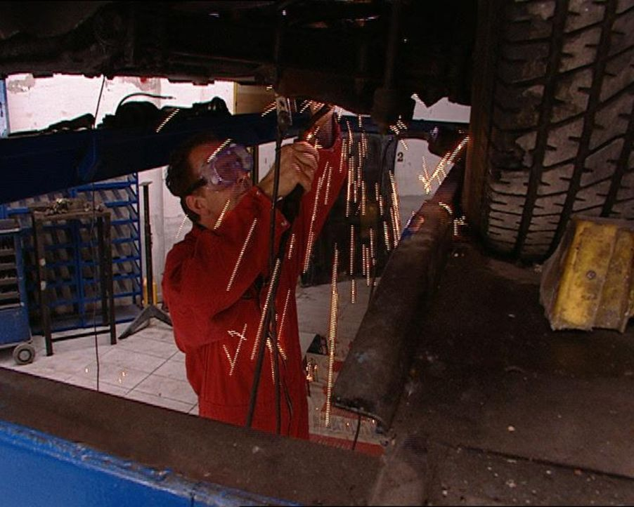 Sie fühlen sich am wohlsten mit verölten Händen in Werkstätten und auf Schrottplätzen. Hauptsache, es riecht nach Benzin und sie dürfen munter... - Bildquelle: SAT.1