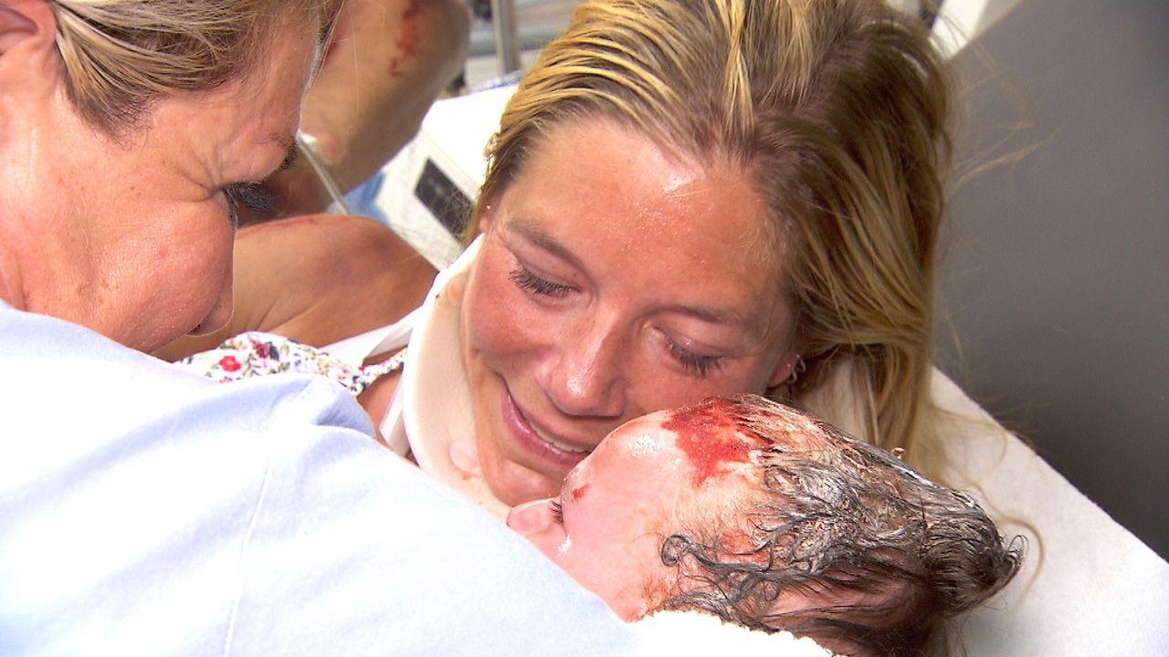 Das größte Geschenk: Die Geburt! - Bildquelle: SAT.1