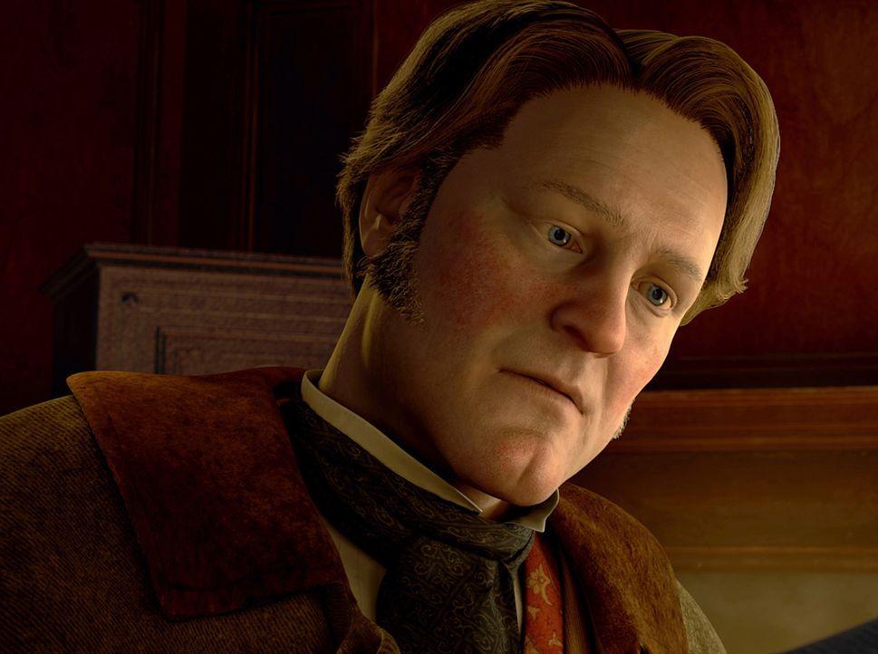 Kann nicht verstehen, dass sein Onkel, der selbstsüchtige und geizige Ebenezer Scrooge, Weihnachten nichts abgewinnen kann: Fred (Colin Firth) ... - Bildquelle: Walt Disney Pictures/Imagemovers Digital, LLC.