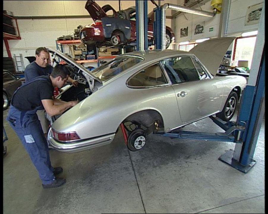 In ihrem Leben dreht sich alles um eine bestimmte Automarke - Porsche. Seit 35 Jahren motzen Vater und Sohn Knappe die Sportgeräte auf ... - Bildquelle: SAT.1