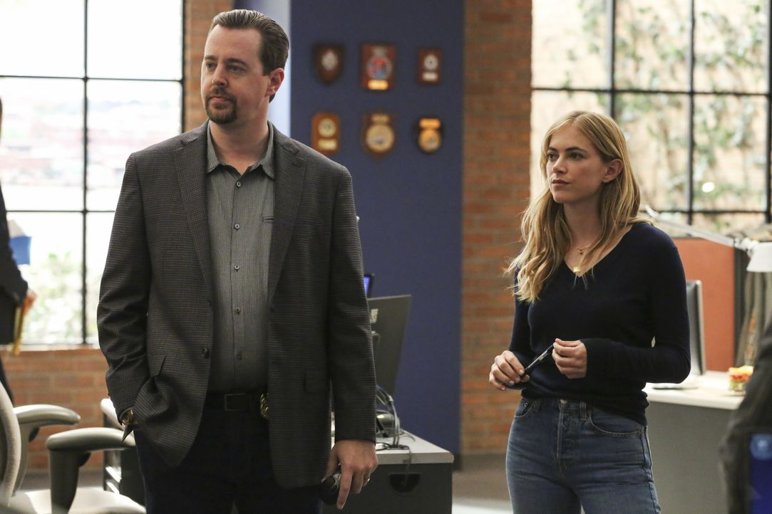 Timothy McGee (Sean Murray, l.); Ellie Bishop (Emily Wickersham, r.) - Bildquelle: Michael Yarish 2019 CBS Broadcasting, Inc. All Rights Reserved / Michael Yarish