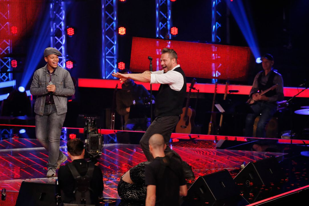 The-Voice-Kids-s04e02-Noel-1-SAT1-Richard-Huebner - Bildquelle: © SAT.1/ Richard Hübner