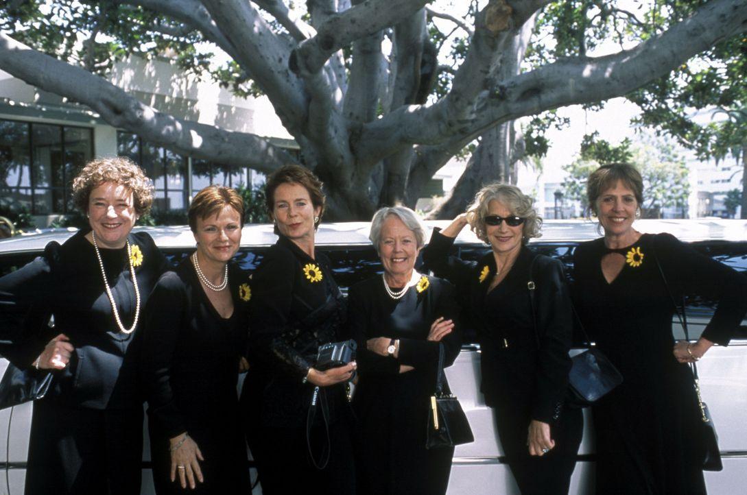 """Das hätten sich die """"Kalender Girls"""" nie träumen lassen: Cora (Linda Bassett), Annie Clarke (Julie Walters), Celia (Celia Imrie), Jessie (Annette Cr... - Bildquelle: Buena Vista Pictures Distribution /   Touchstone Pictures. All Rights Reserved."""