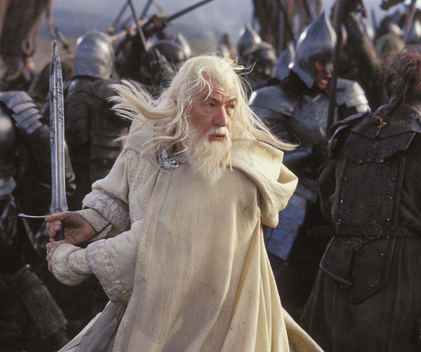 Die Schlacht um Mittelerde hat eben erst begonnen: Gandalf (Ian McKellen) versucht mit aller Kraft, die Truppen von Sauron zu stoppen ... - Bildquelle: Warner Bros.