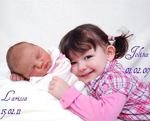 Imkes Töchter Jolina (2 Jahre) und Larissa (6 Wochen) - Bildquelle: Sat1