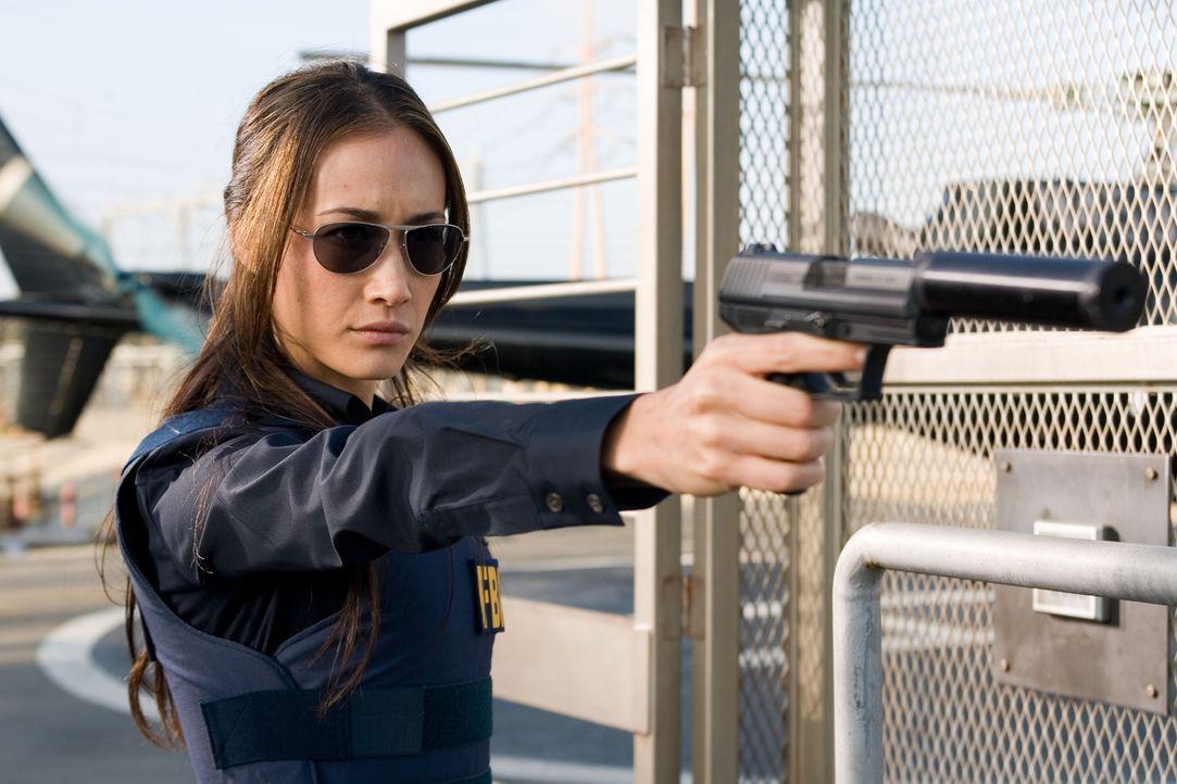 Brutal, sexy und zu allem bereit: Mai Linh (Maggie Q), die Geliebte des Verbrechers Thomas Gabriel ... - Bildquelle: Frank Masi 2007 Twentieth Century Fox Film Corporation.  All rights reserved.