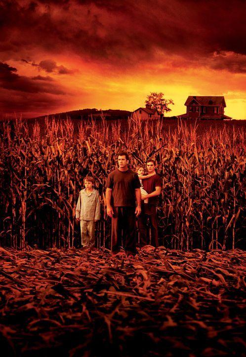 Signs - Zeichen (v.l.n.r.: Rory Culkin, Mel Gibson, Abigail Breslin, Joaquin Phoenix) - Bildquelle: Touchstone Pictures