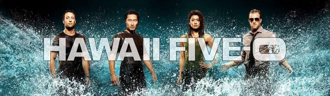 (1. Staffel) - Hawaii Five-0: Steve McGarrett (Alex O'Loughlin, l.), Danny Williams (Scott Caan, r.), Chin Ho Kelly (Daniel Dae Kim, 2.v.l.) und Kon... - Bildquelle: TM &   2010 CBS Studios Inc. All Rights Reserved.