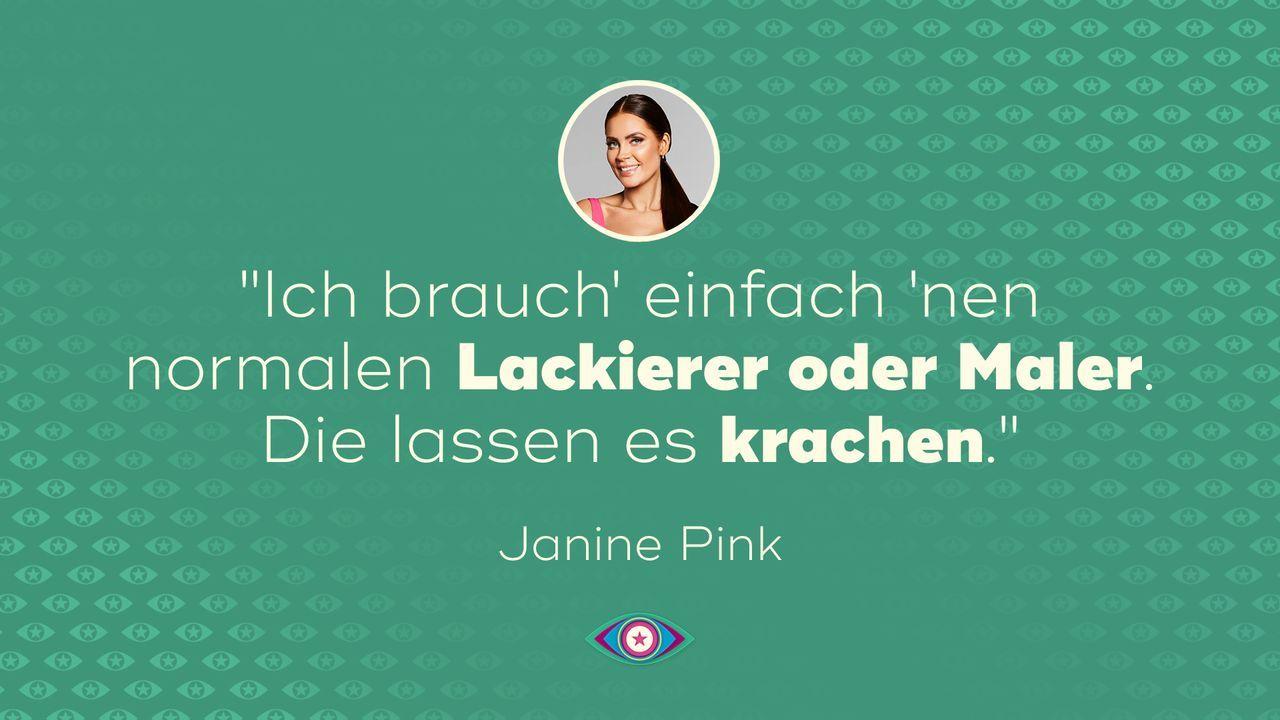 Einzug: Janine Pink - Bildquelle: SAT.1