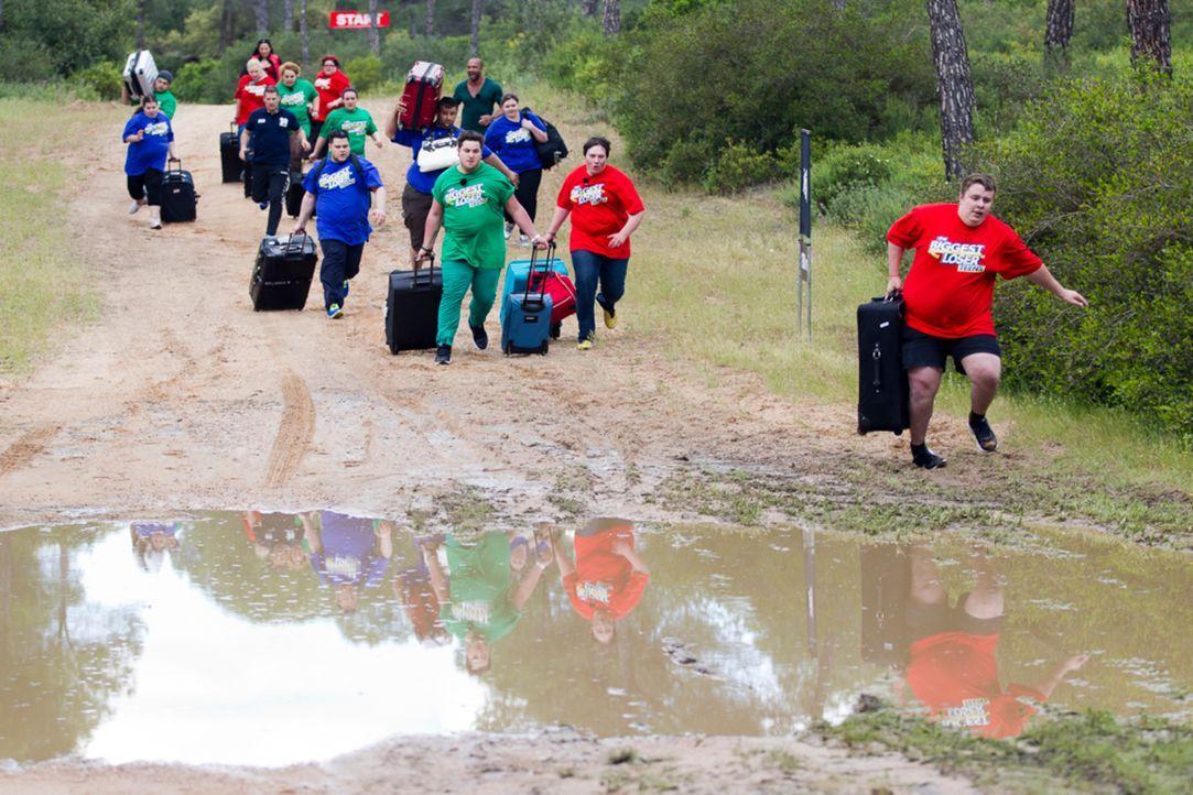 """Dass ab sofort Teamgeist angesagt ist, erleben die zwölf """"The Biggest Loser Teens""""-Teilnehmer bereits bei ihrer Ankunft im andalusischen Camp. Welch... - Bildquelle: Enrique Cano SAT.1"""