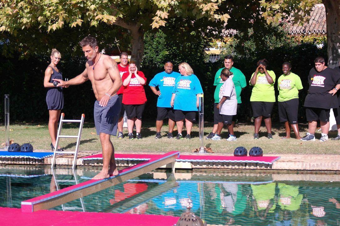 Zwischen den Kandidaten entbrennt ein Wettkampf um das Gewicht. Die Gewinner der Wettkämpfe dürfen sich über Bonuskilo freuen, während die Verli... - Bildquelle: Enrique Cano SAT.1